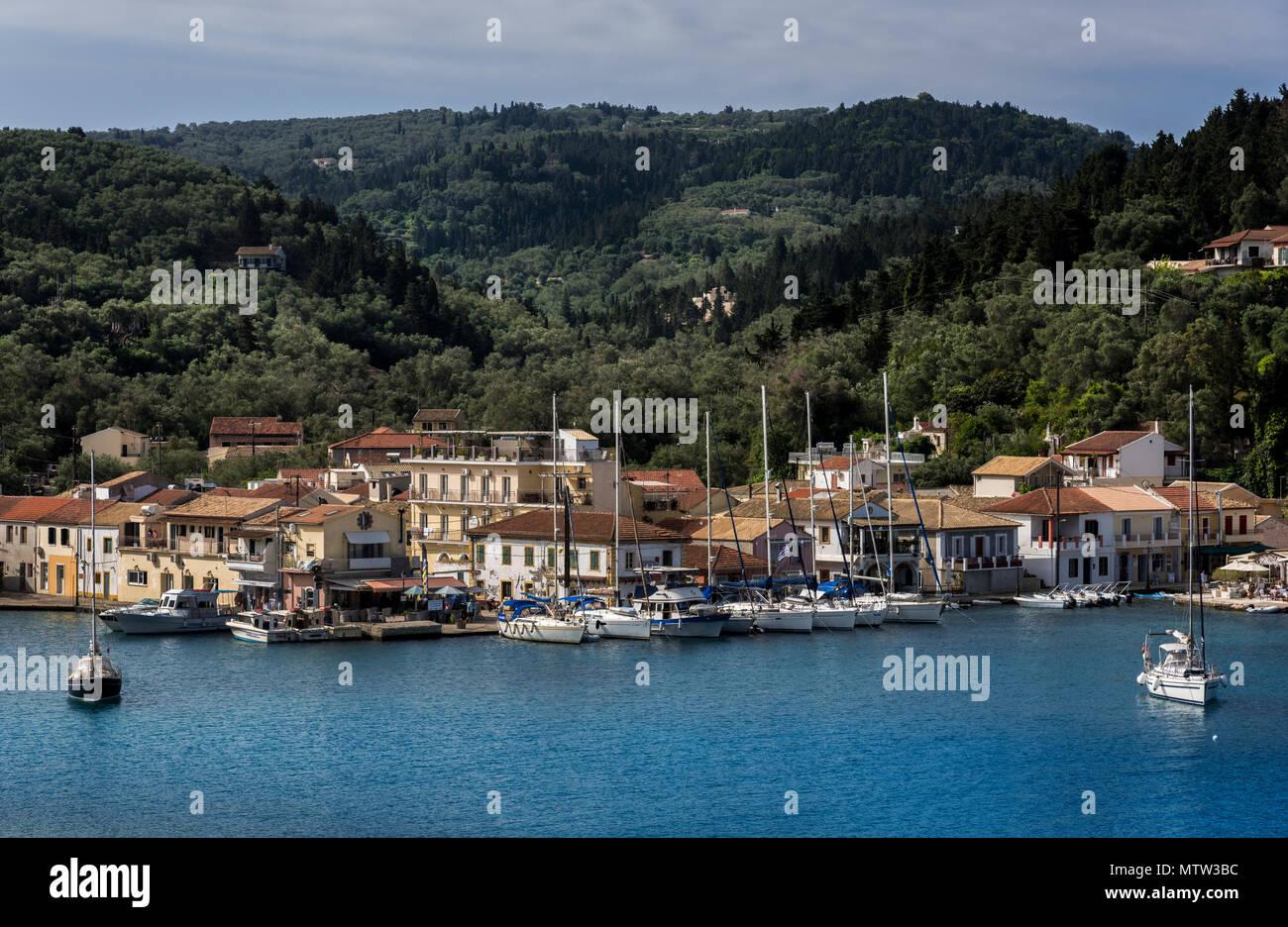 Lakka Harbour, Paxos. - Stock Image