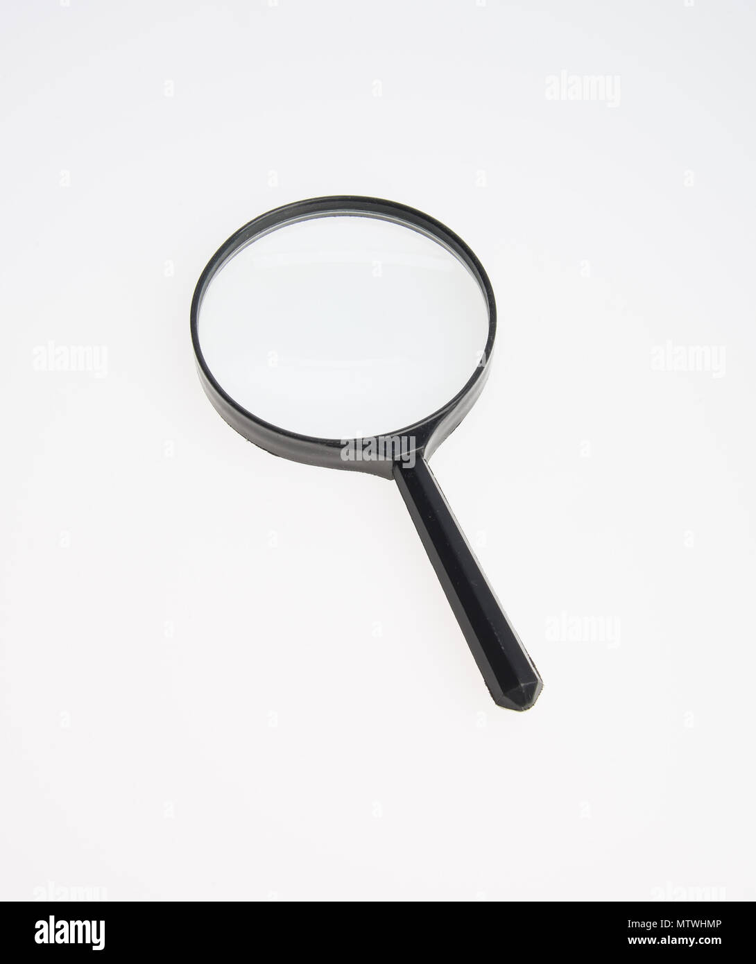 Magnifying Glass or Magnify on a background - Stock Image