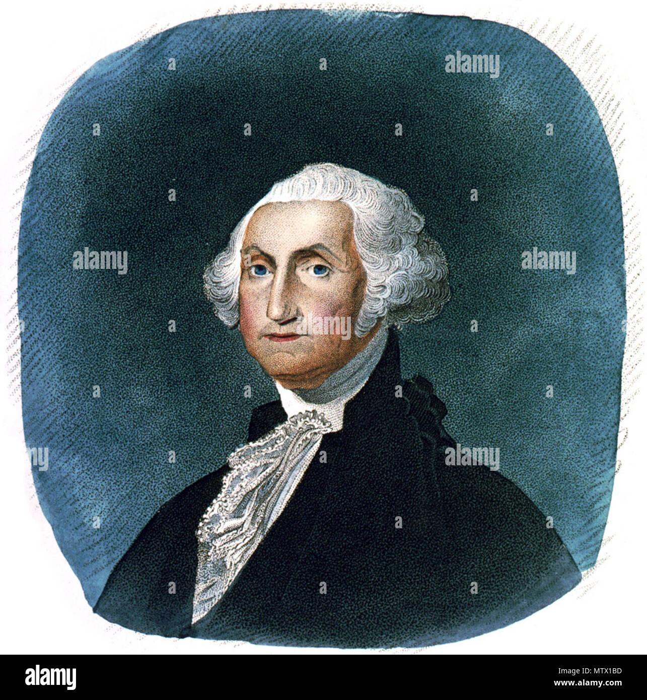 George Washington, head-and-shoulders portrait, facing left. 1 print ...
