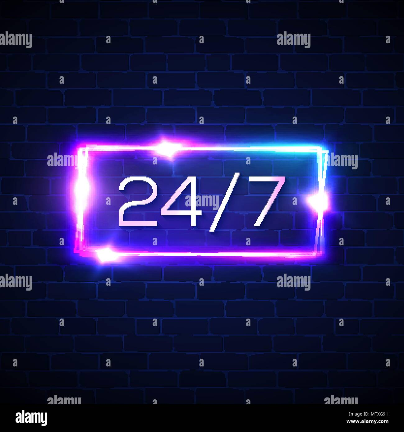 Lighting Warehouse Menlyn Trading Hours: Blue Glowing Round Frame Text Stock Photos & Blue Glowing