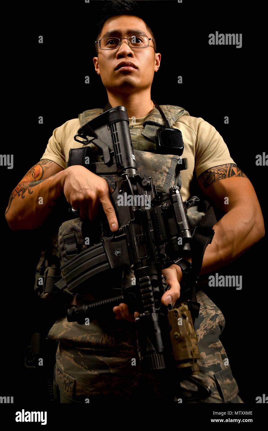 Senior Airman David, 799th Security Forces Squadron alarm monitor ...