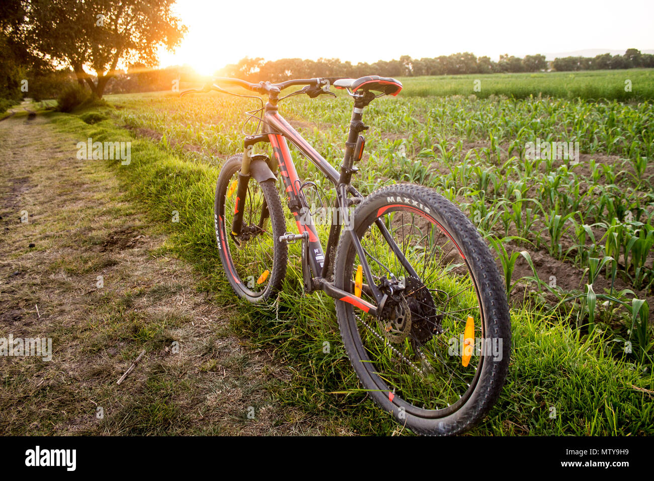 Tlaxcala, Mexico - May 27.2018. The Giant Talon 1 is manufactured by the a Taiwanese company Giant,  that is recognized as the world's largest bicycle - Stock Image