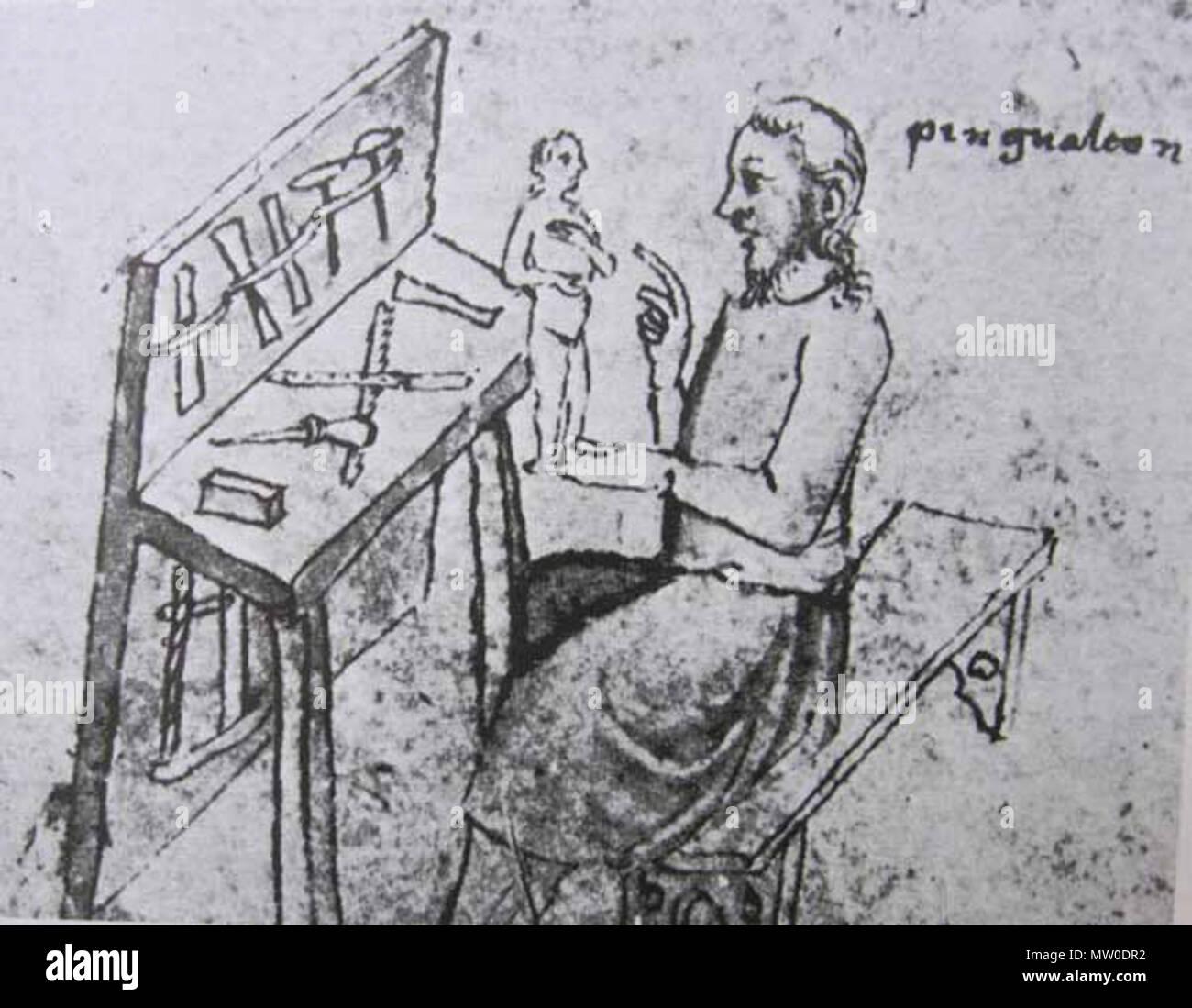 484 Pigmalión (escultor en madera) - Stock Image