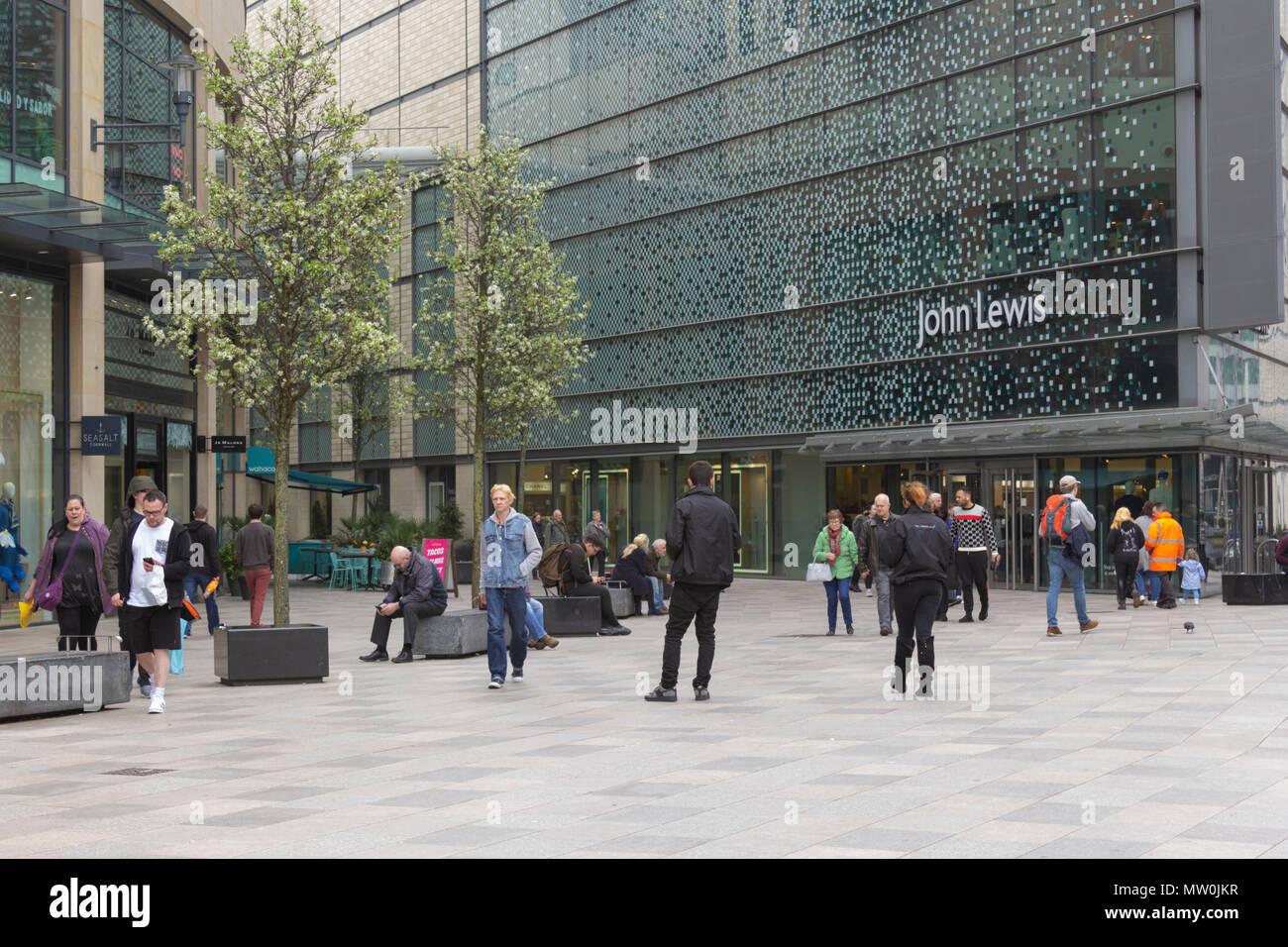 John Lewis, Cardiff, UK, 2018, Shopping. - Stock Image