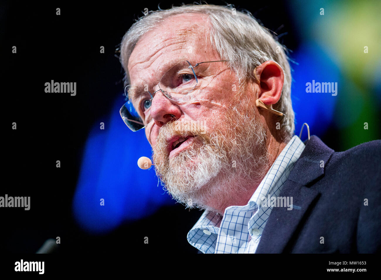 Wednesday  30 May 2018  Pictured: Author Bill Bryson  Re: The 2018 Hay festival take place at Hay on Wye, Powys, Wales Stock Photo