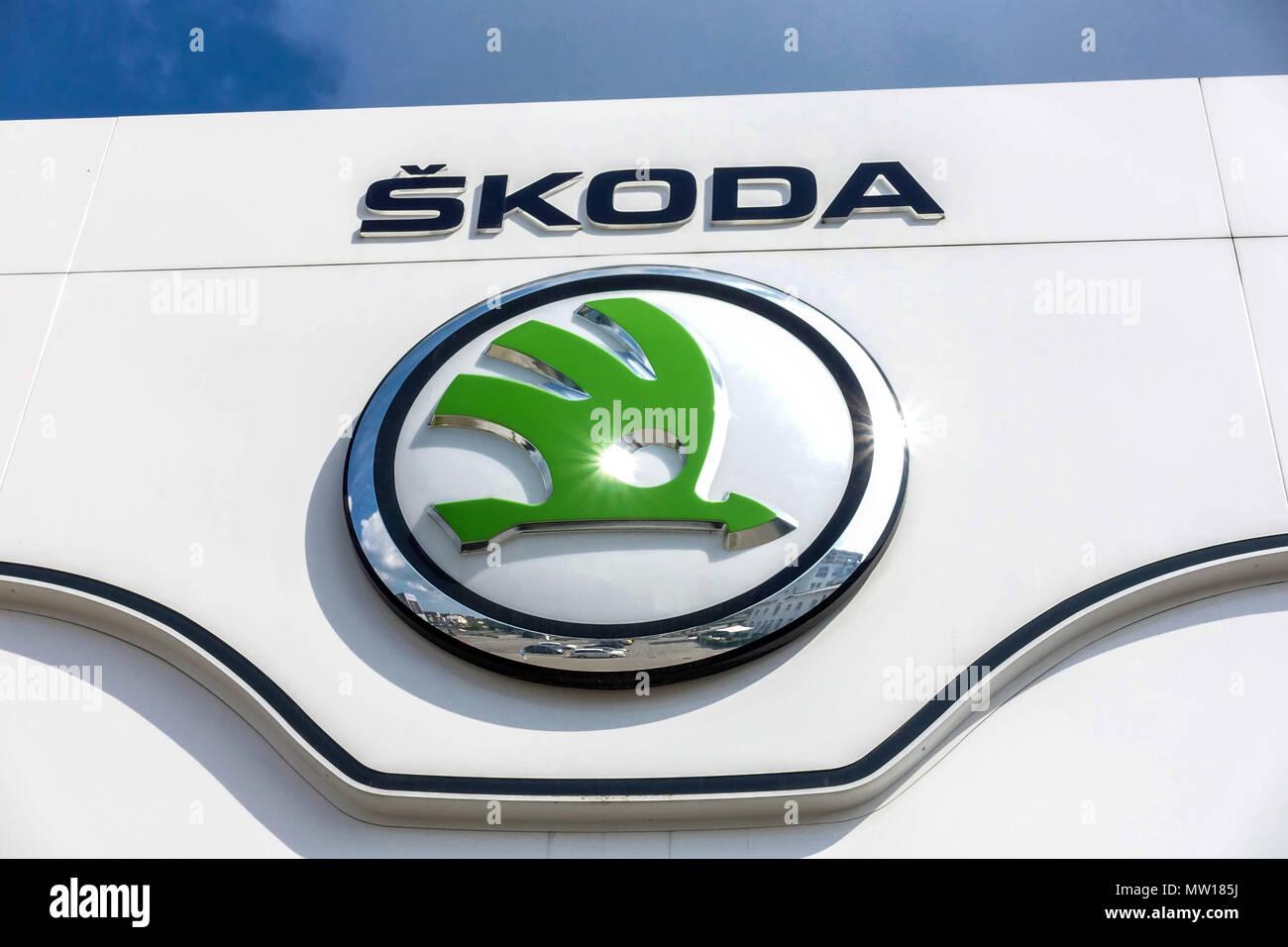 Skoda logo, sign - Stock Image