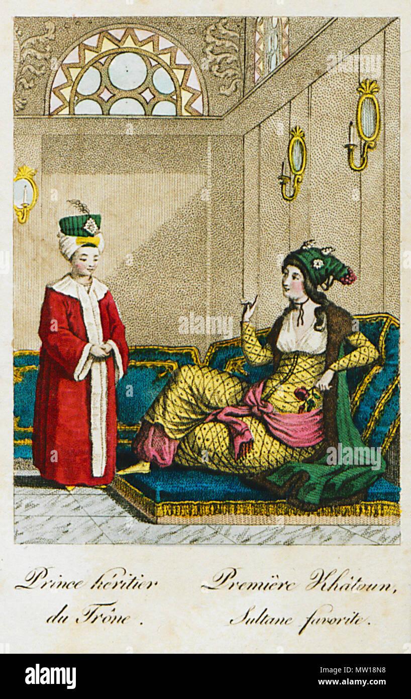 501 Prince héritier du Trône Première Khâtoun, Sultane favorite - Castellan Antoine-laurent - 1812 - Stock Image