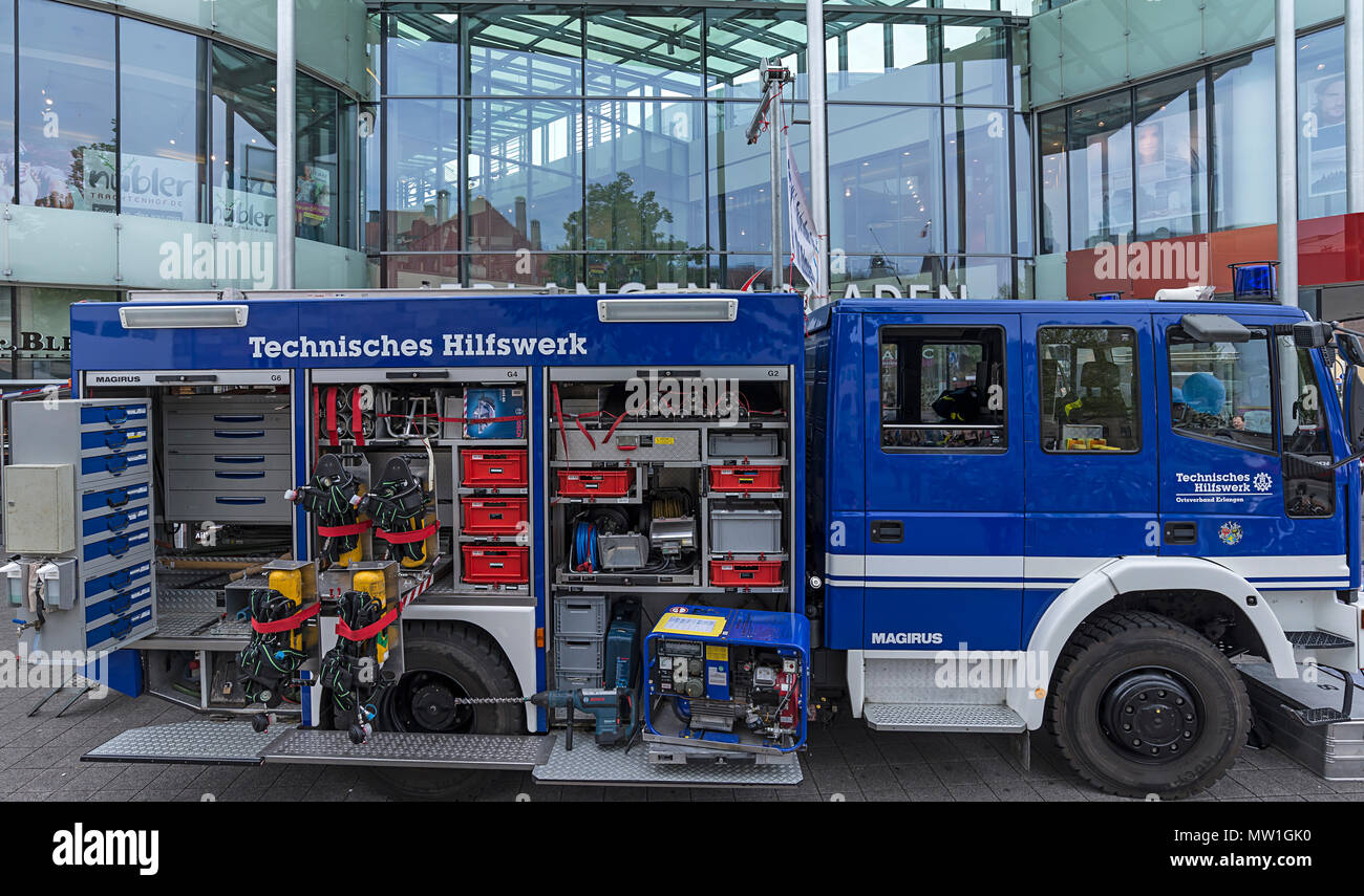 Einsatzwagen, technical relief organization, civil protection and disaster control organization, Germany - Stock Image