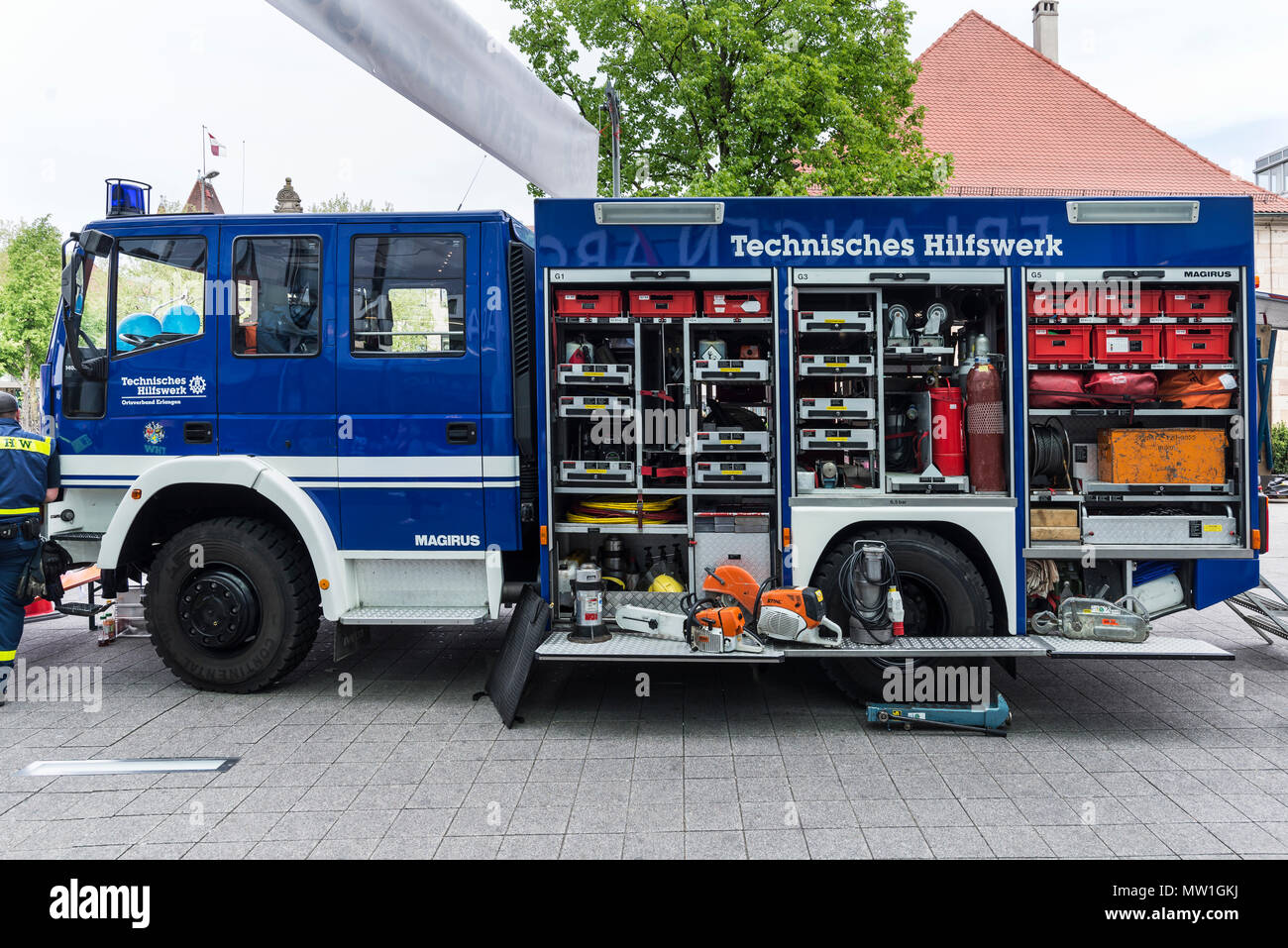 Einsatzwagen, technical relief organization, civil protection and disaster control organization, Germany Stock Photo