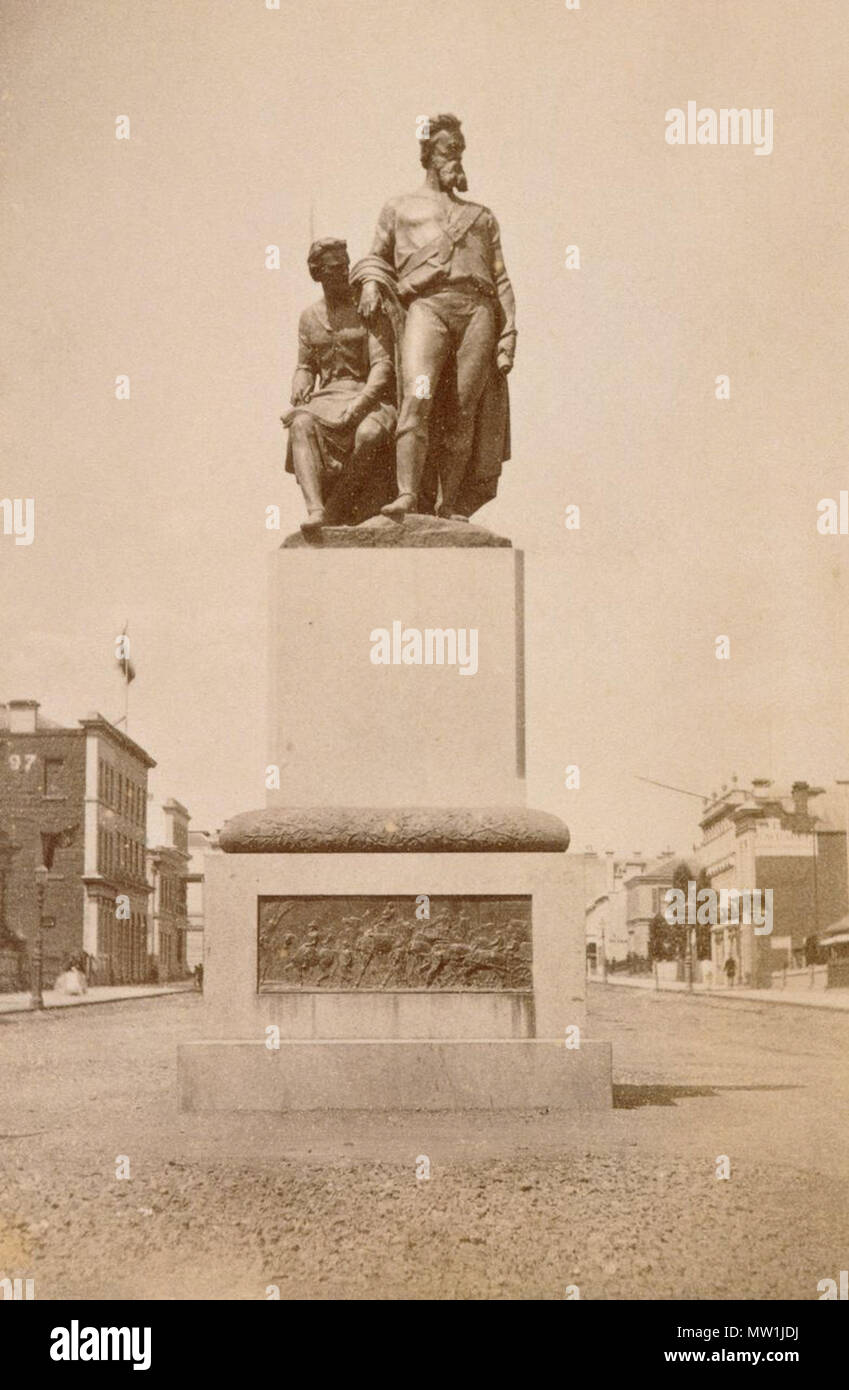 Franais Photographie Du Monument Burke Et Willis De Lexpdition Mme Nom Carte Visite Thomas Foster Chuck Lauteur La