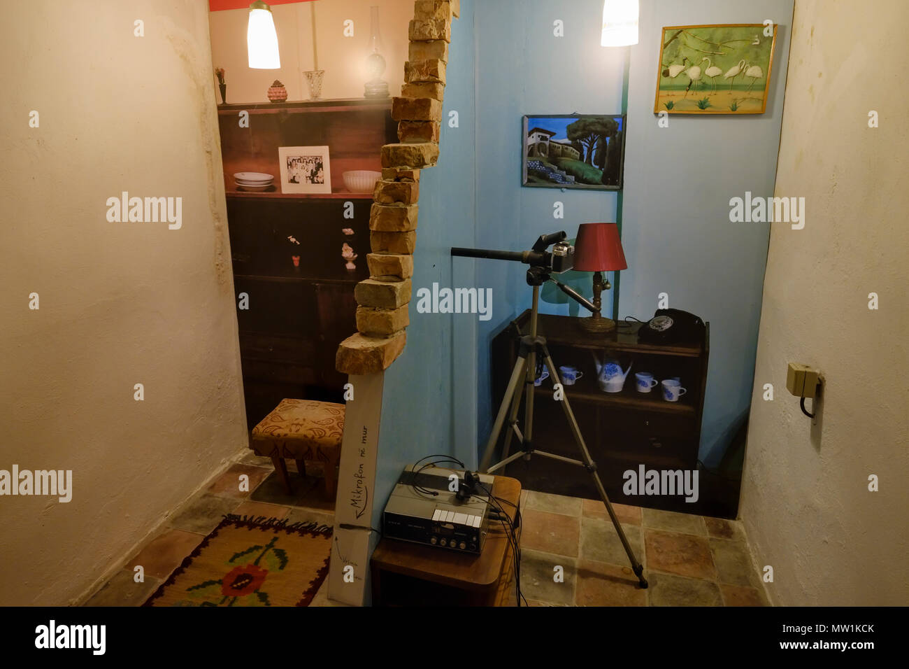 Espionage, Museum Bunk'Art 2, former nuclear bunker, city center, Tirana, Albania - Stock Image