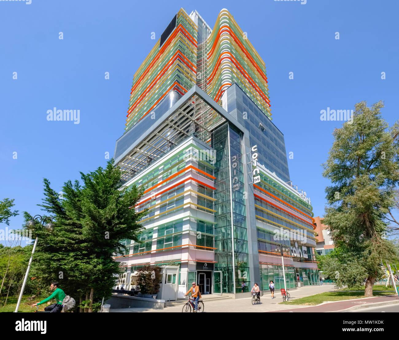 Coin Shopping Centre, downtown, Tirana, Albania - Stock Image