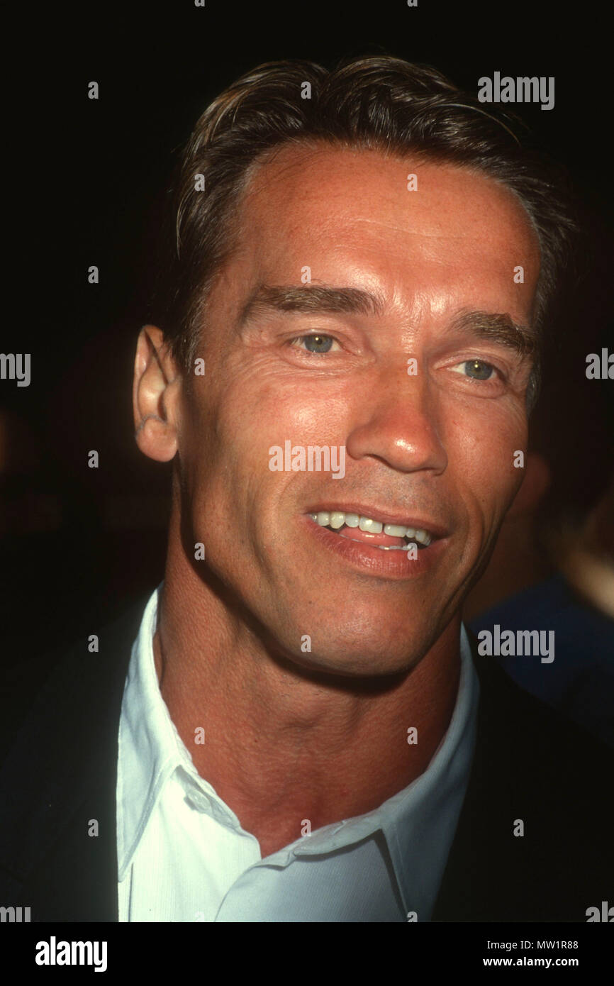 LOS ANGELES, CA - JULY 1: Actor Arnold Schwarzenegger attends the 'Terminator 2: Judgement Day' Los Angeles Premiere on July 1, 1991 at Cineplex Odeon Cinemas in Los Angeles, California. Photo by Barry King/Alamy Stock Photo - Stock Image