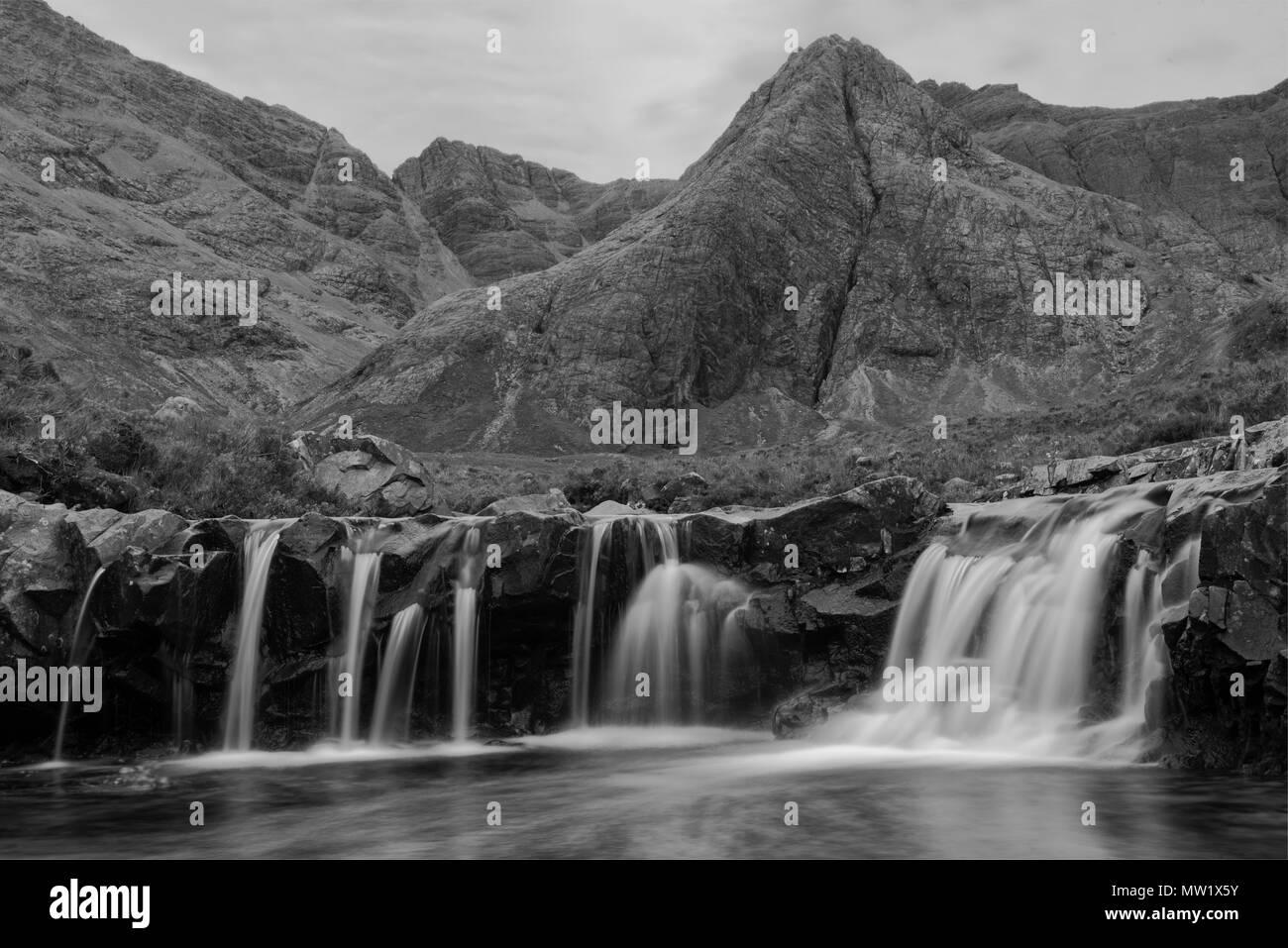 Europe, United Kingdom, Scotland,Hebrides archipelago, Isle of Skye, Fairy Pools - Stock Image