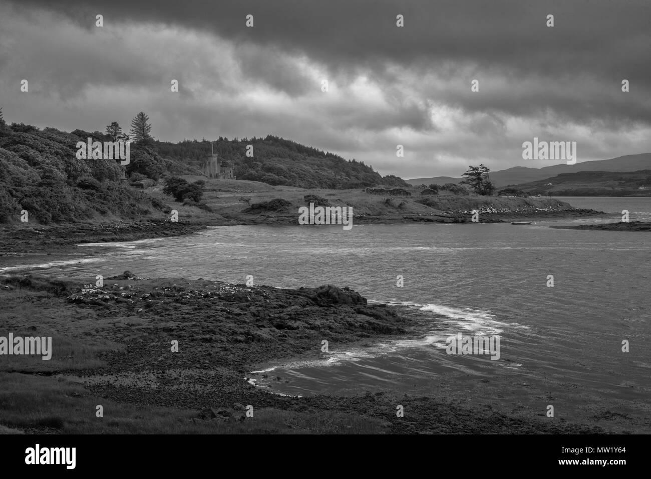 Europe, United Kingdom, Scotland, Isle of Skye, Hebrides, Glendale, Dunvegan Castle - Stock Image