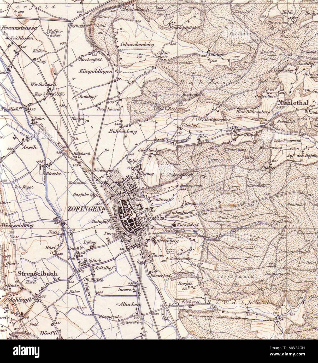 662 Zofingen 1884 - Stock Image