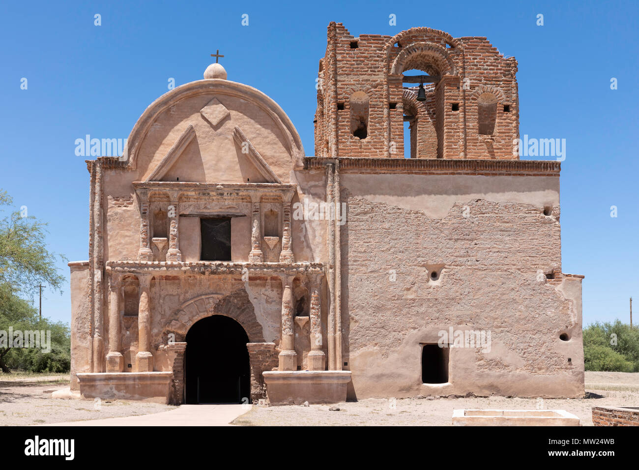Tumacacori Mission, Tumacacori  National Historical Park, Arizona - Stock Image