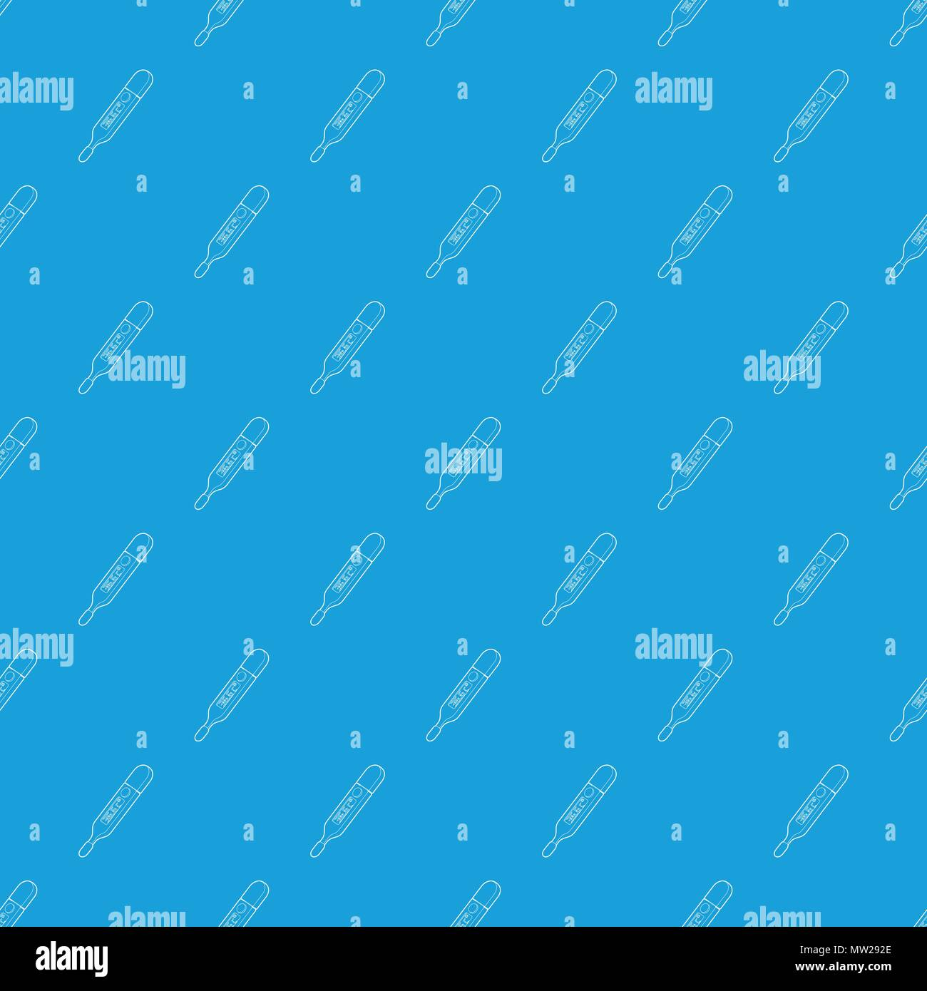 Medical thermometer pattern vector seamless blue Stock Vector