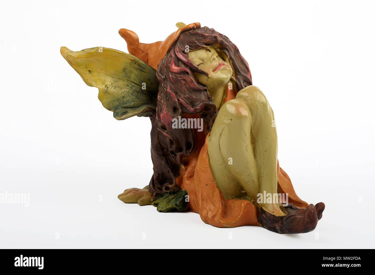 a little fairy sitting - Stock Image