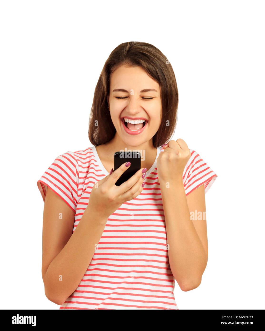 white girl on phone