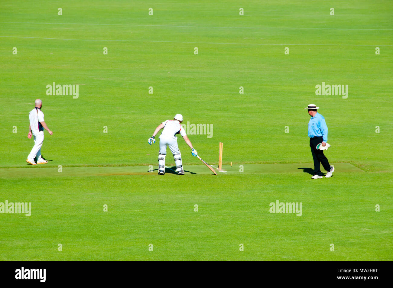 Cricket Field Game - Stock Image
