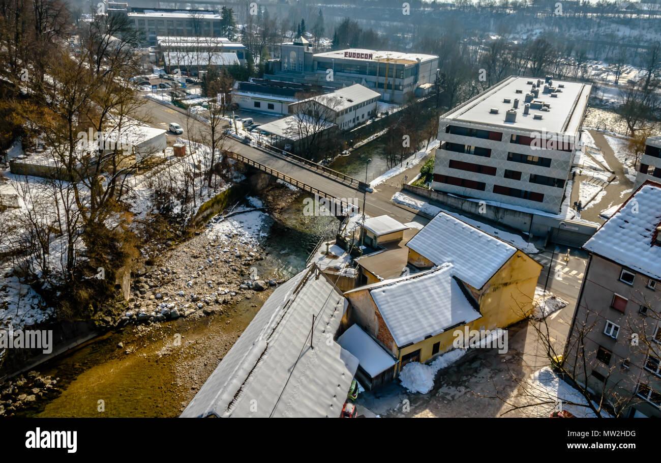 Kokra River Bridge - Stock Image