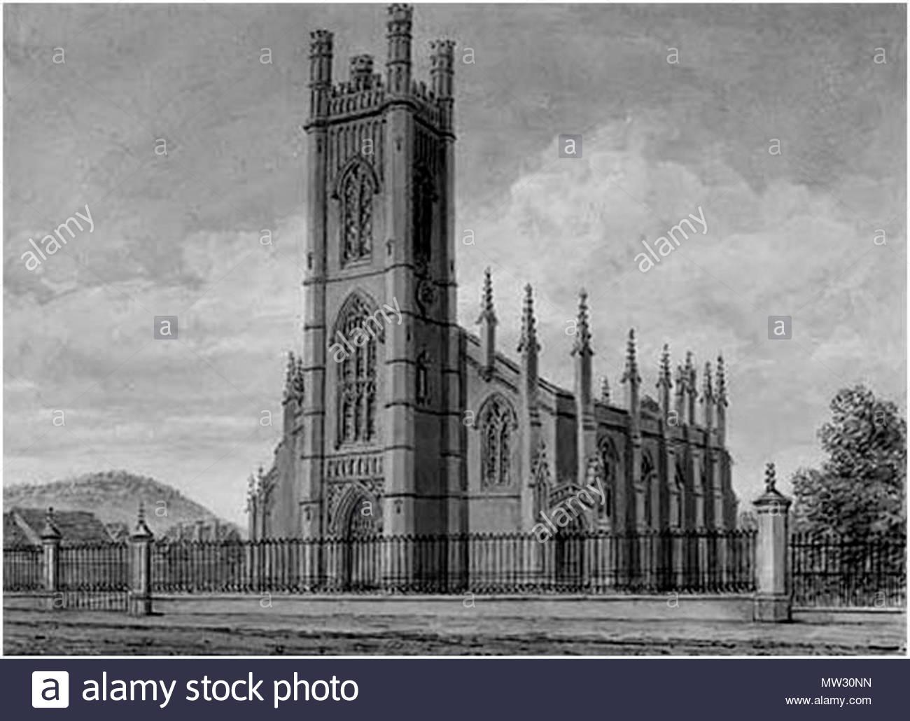 . English: Holy Trinity church Burton Upon Trent Staffordshire England. 3 October 2009. N S Aspdin 282 Holy Trinity Church Burton on Trent - Stock Image