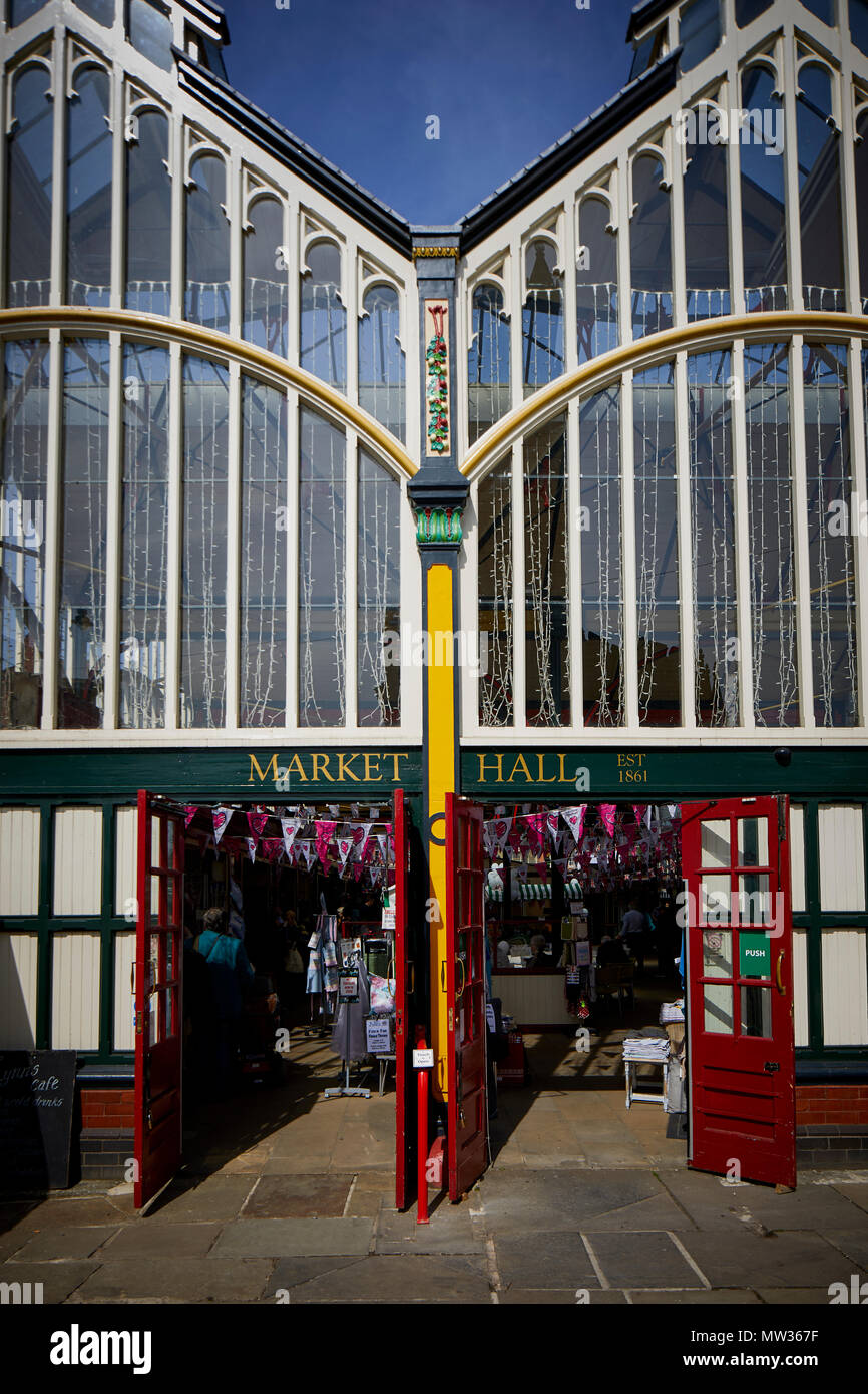 Stockport Town centre's Old Town Market Hall indoor market - Stock Image