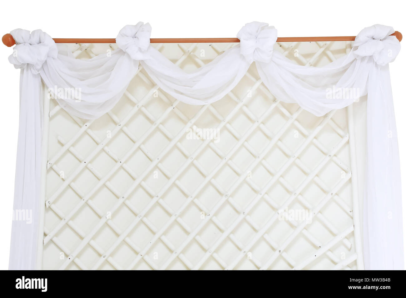 backdrop with handmade wooden and cloth - Stock Image