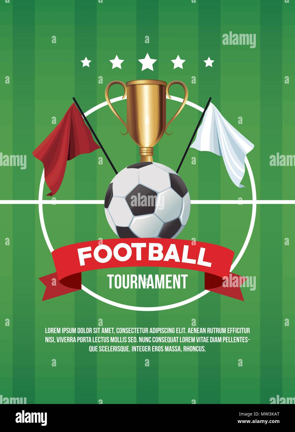 Football Tournament Banner Stock Vector Image Art Alamy