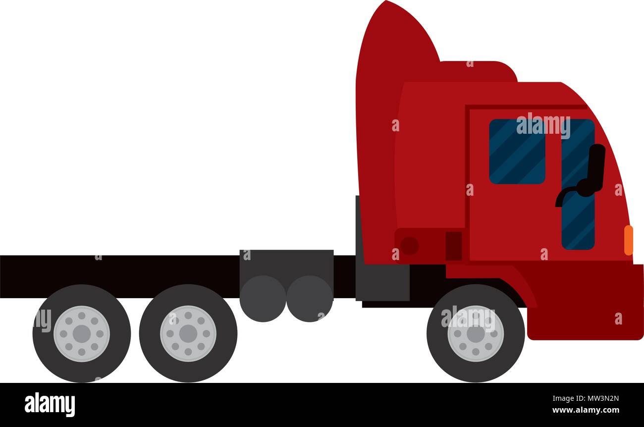side truck transport service vehicle Stock Vector