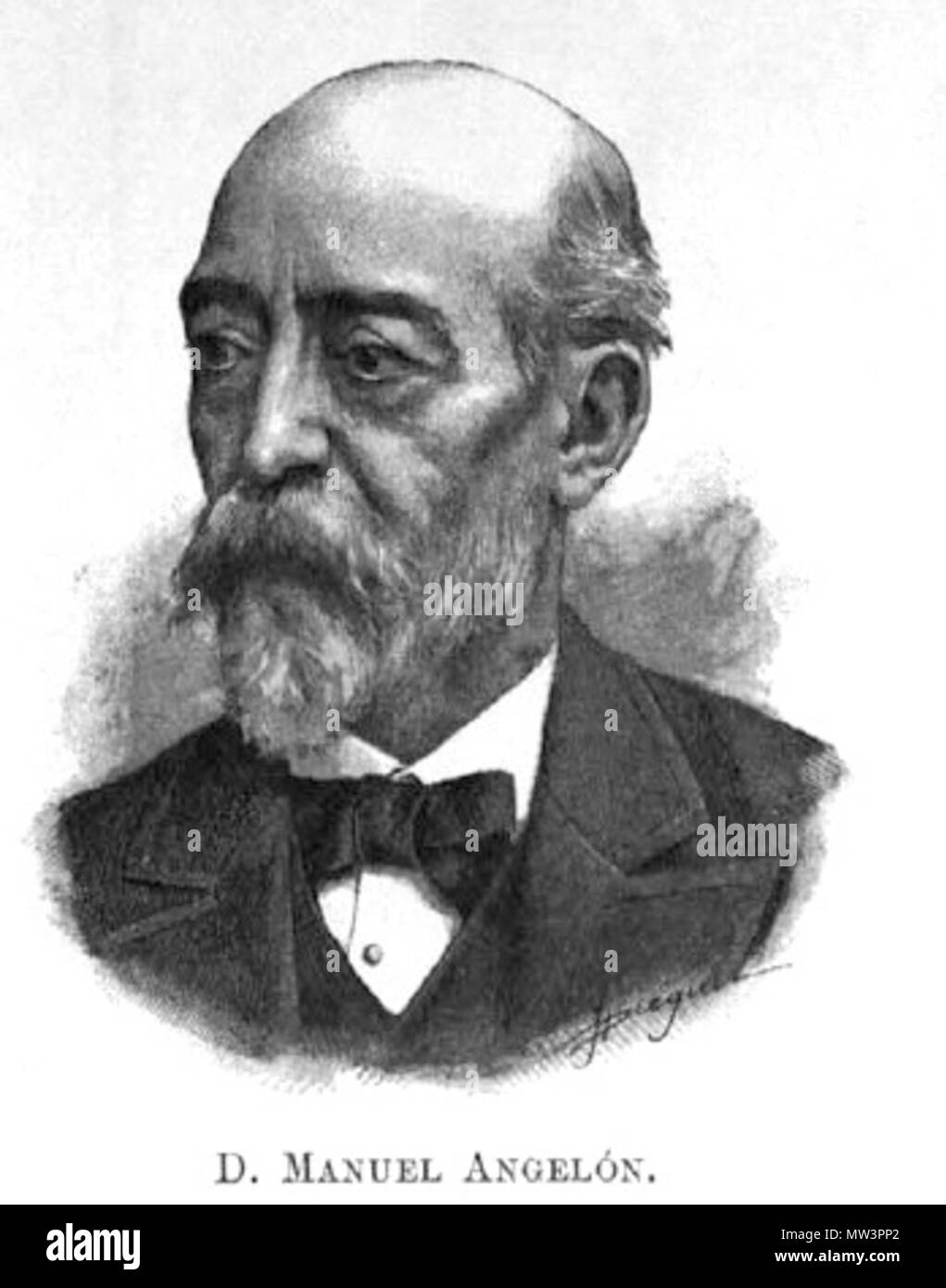 . Català: Manuel Angelon i Broquetas (Lleida, 1831 - Barcelona, 7 de maig, 1889) va ser un escriptor, dramaturg i periodista català. 1899. Unknown 391 Manuel Angelon Stock Photo