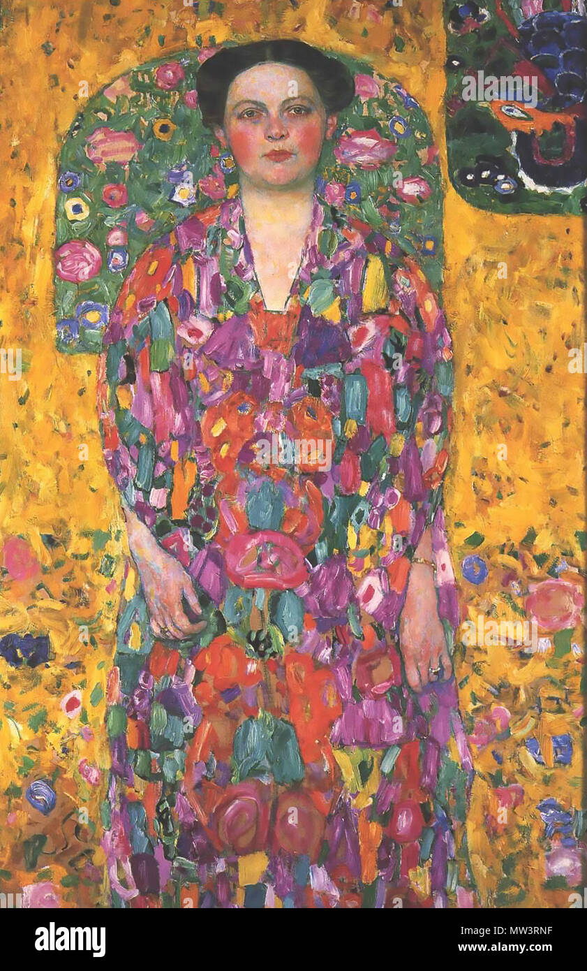 GUSTAV KLIMT (1862-1918) Austrian symbolist painter. His 1913-14 painting 'Eugenia Primavesi' - Stock Image