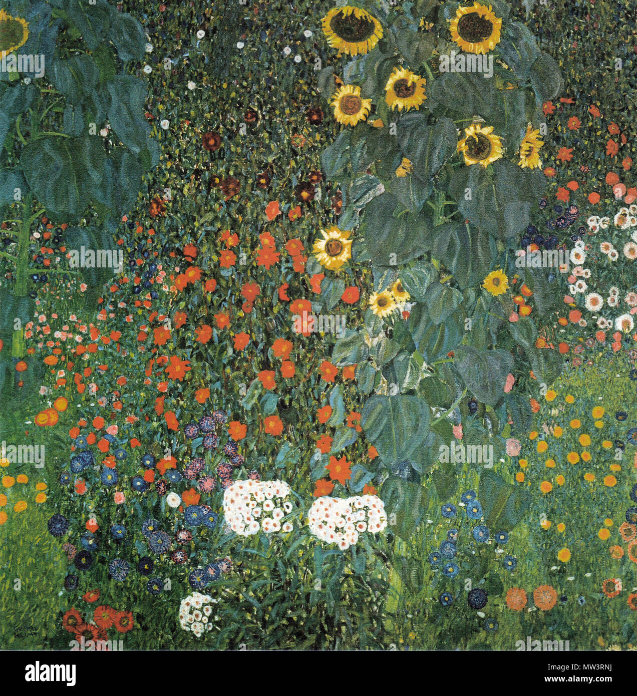 GUSTAV KLIMT (1862-1918) Austrian symbolist painter. The Sunflower painted about 1906 - Stock Image