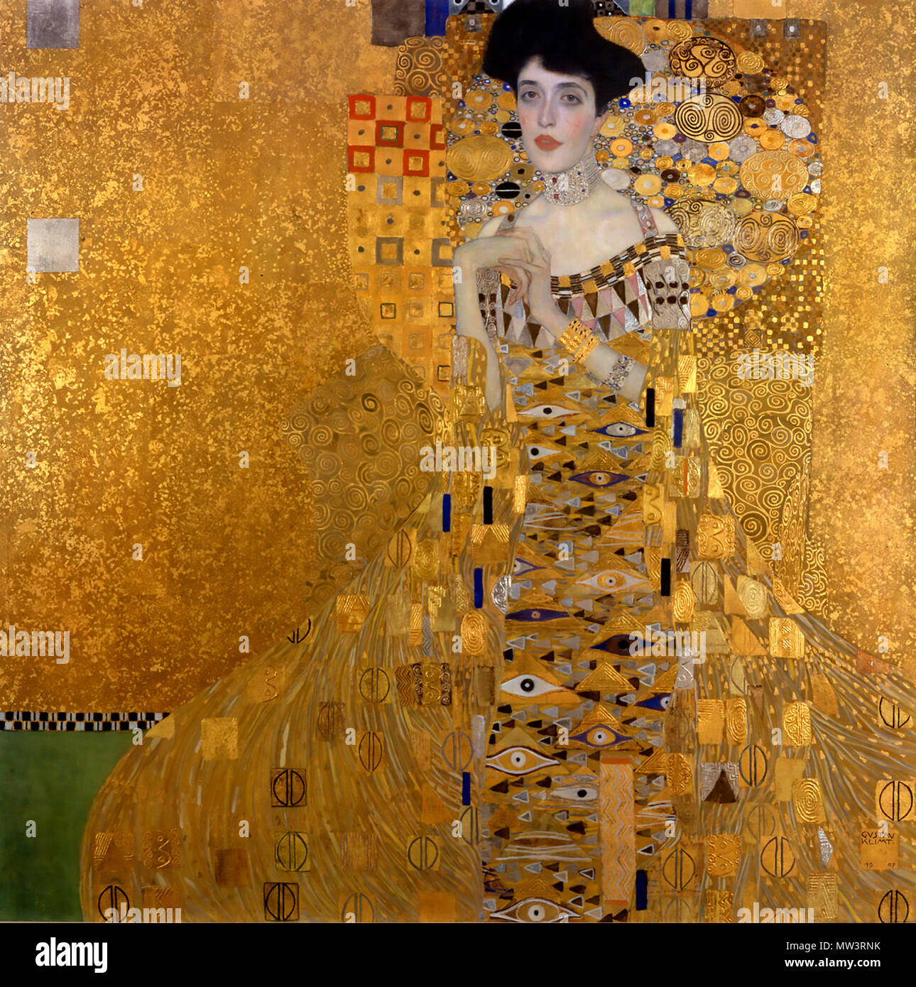 GUSTAV KLIMT (1862-1918) Austrian symbolist painter. His 1907 portrait 'Adele Bloch-Bauer' which sold for £35million at the Neue Galerie, New York, in 2006. - Stock Image