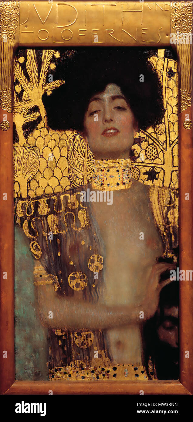 GUSTAV KLIMT (1862-1918) Austrian symbolist painter. His 1901 painting 'Judith and the head of Holofernes' - Stock Image
