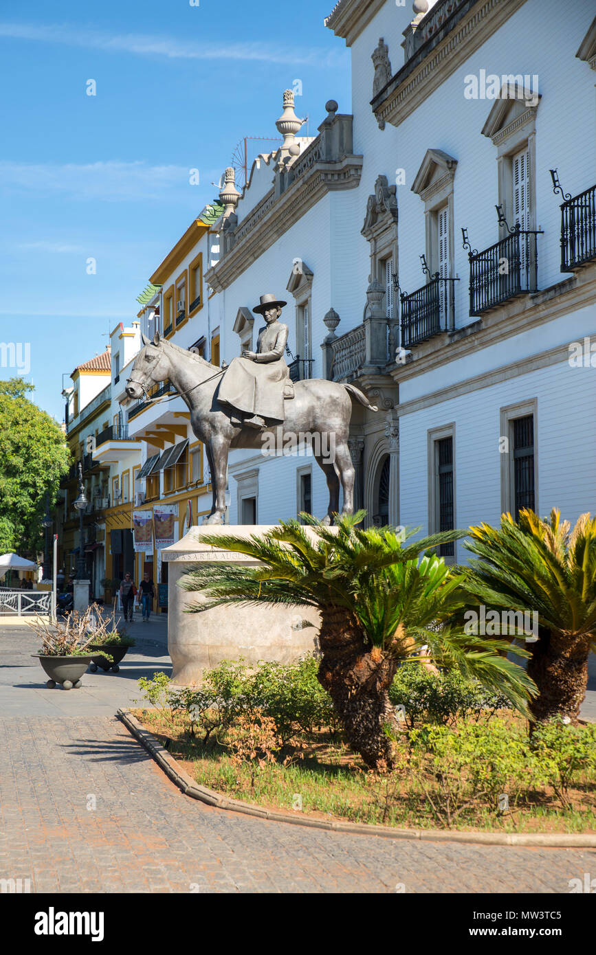 Plaza de toros de la Real Maestranza de Caballería de Sevilla bull ring, Seville, Spain - Stock Image