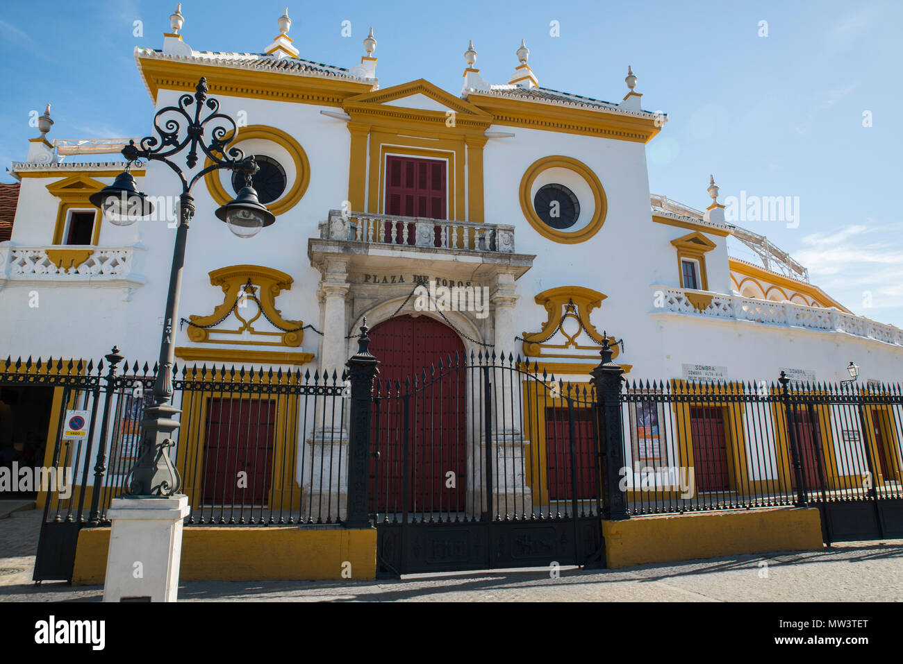 Plaza de toros de la Real Maestranza de Caballería de Sevilla bull ring, Seville, Spain Stock Photo