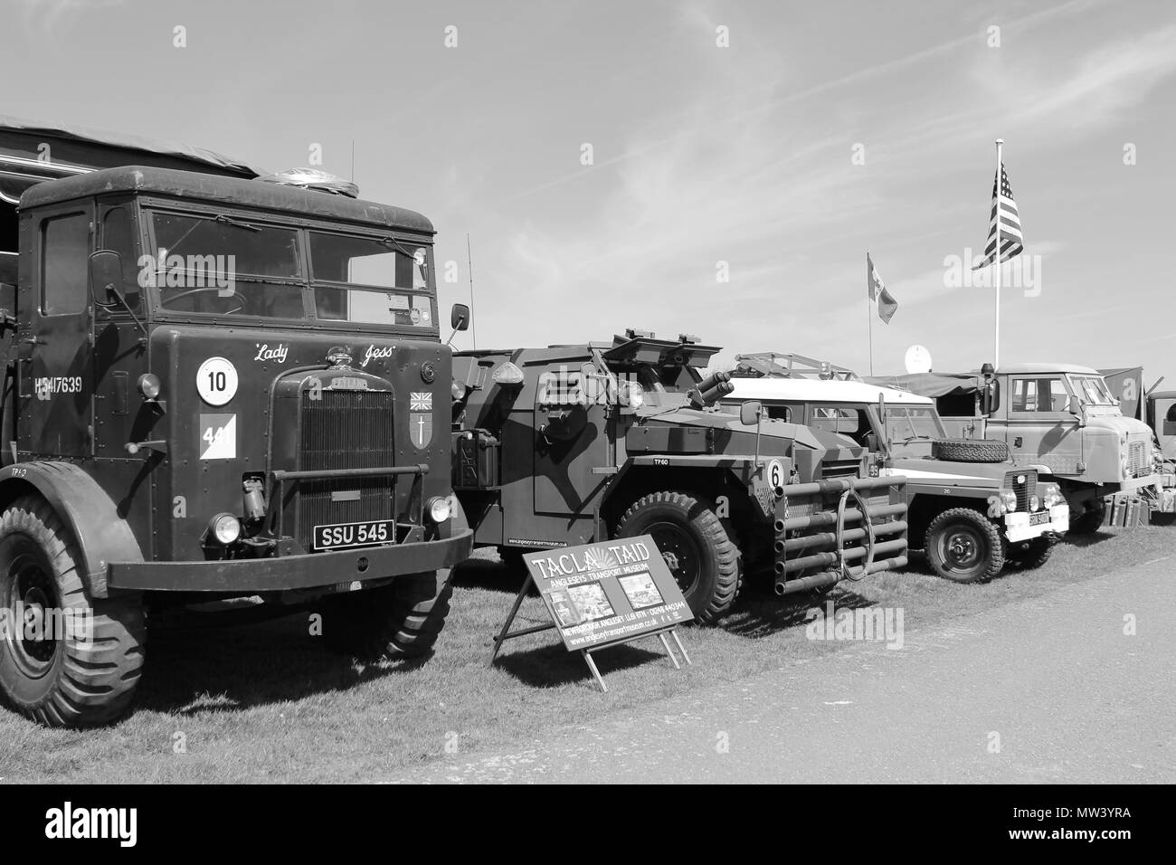 Military Vehicles Show at Llandudno, Wales - Stock Image