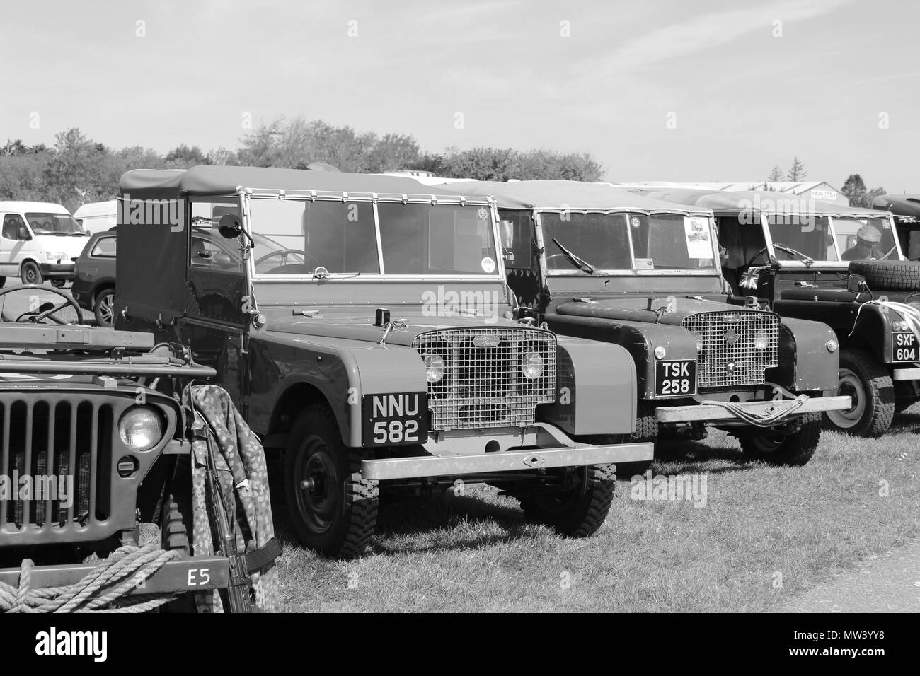 Military Vehicles Show at Llandudno, Wales - Stock Image