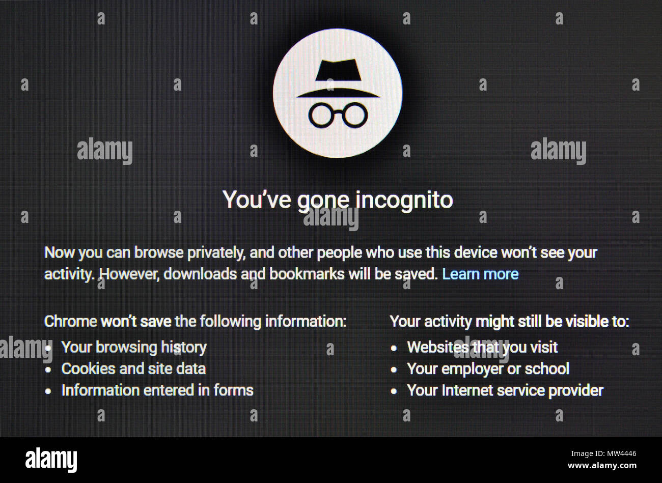 incognito stock photos & incognito stock images - alamy