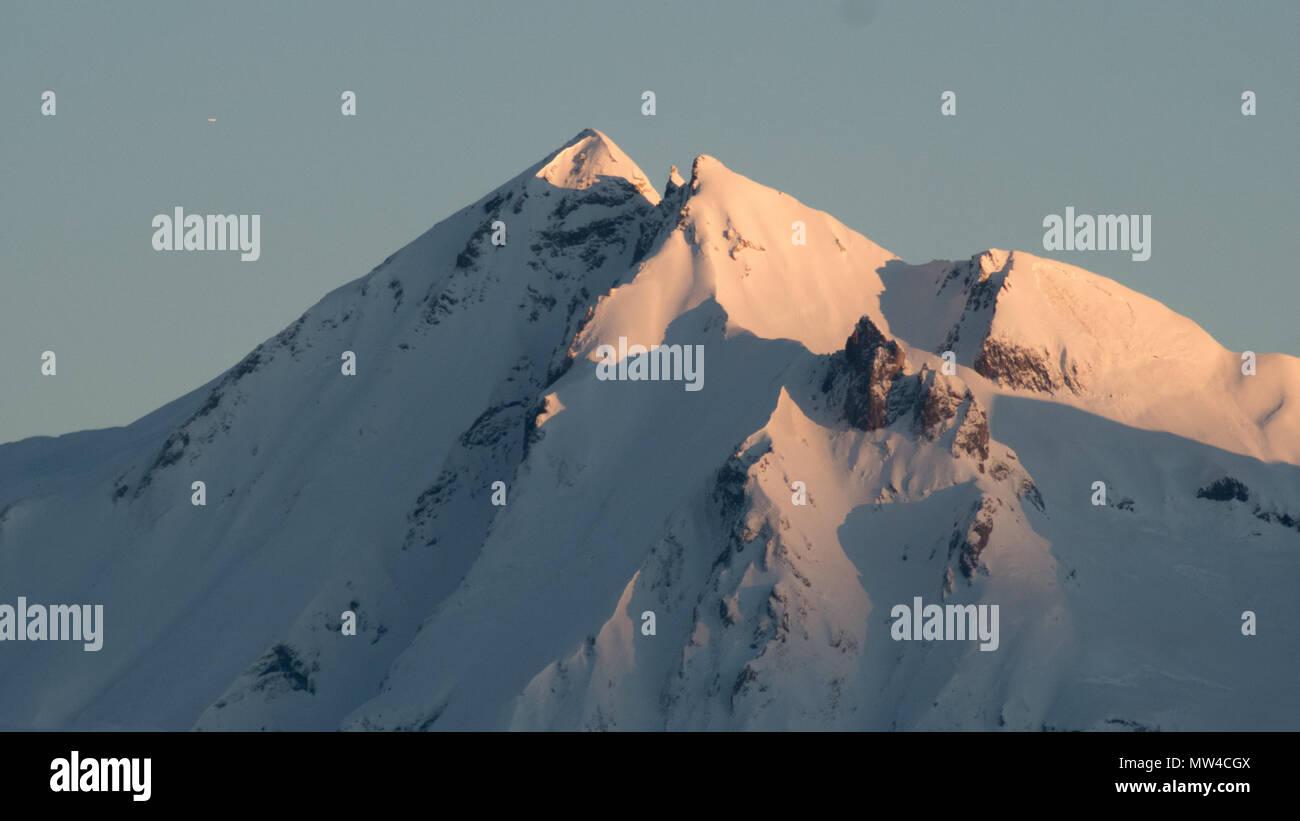 Les Arcs Sunrise - Stock Image