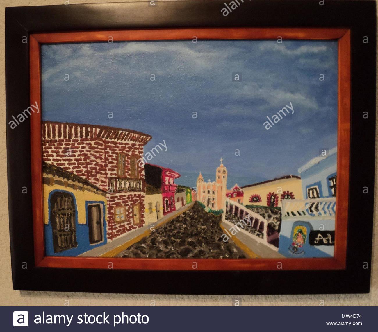 Español: Pintura en óleo sobre tela, enmarcado en doble marco sobre ...