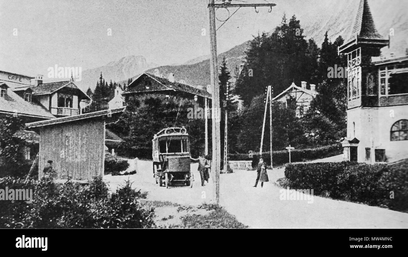 573 Starý Smokovec - cestný elektrobus 1904 Stock Photo