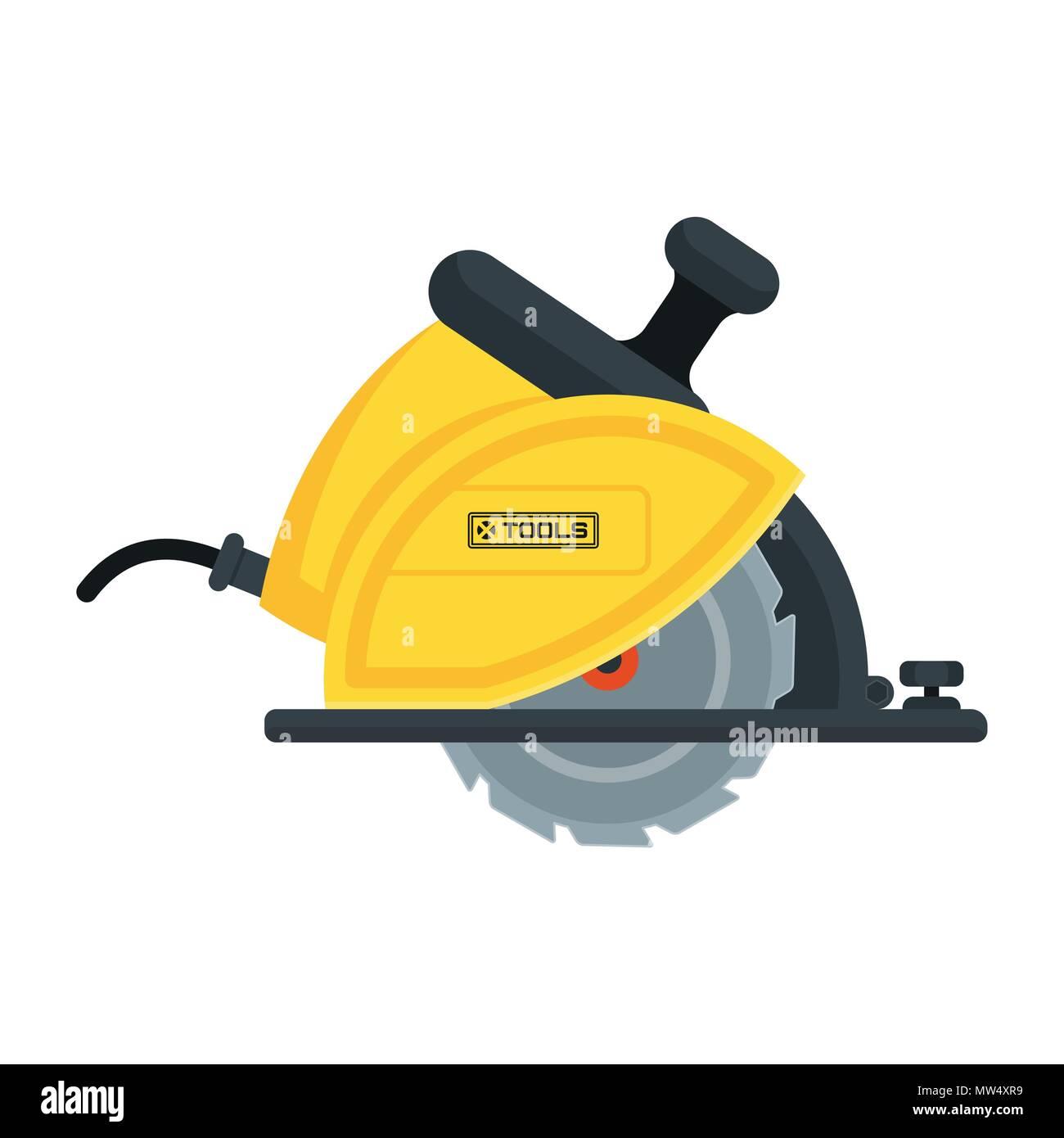 power tools circular saw icon - Stock Vector