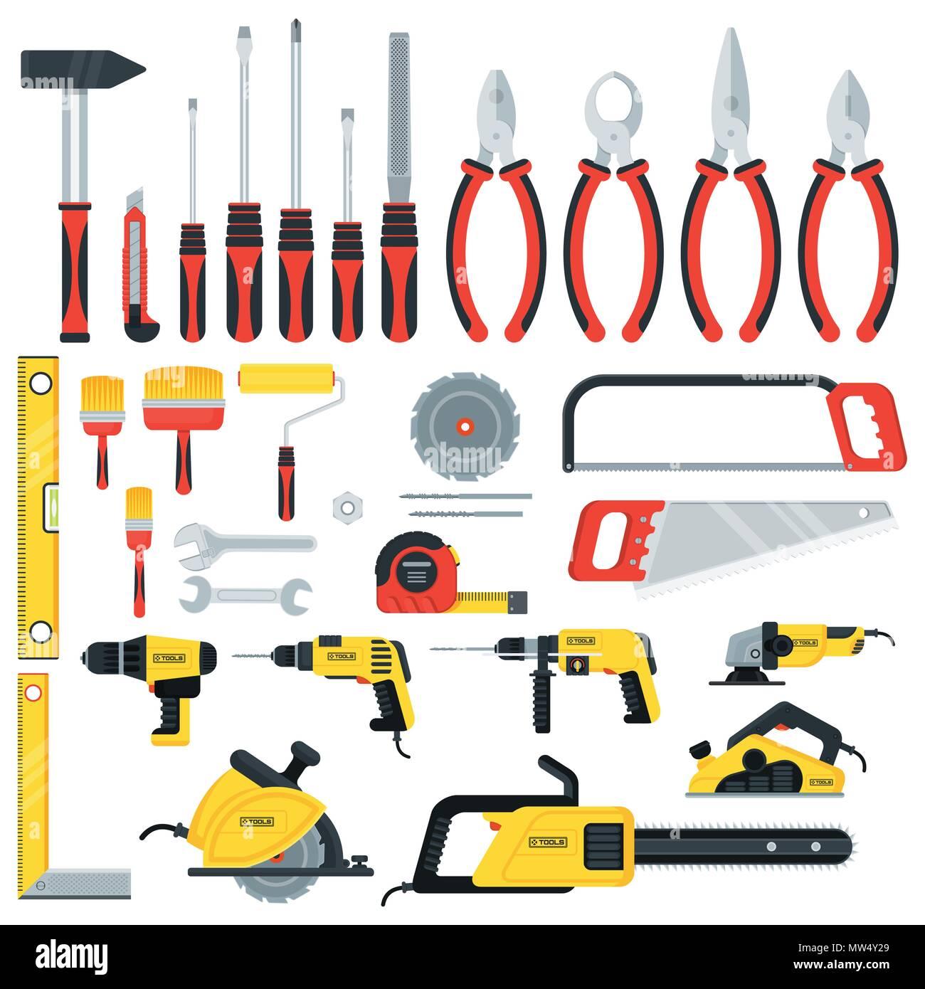 tools big set - Stock Vector