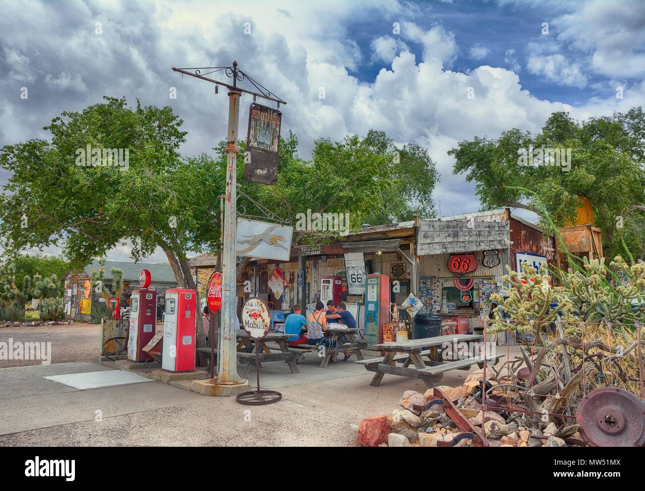 hackberry, arizona, usa - july 24, 2017: the famous historic route