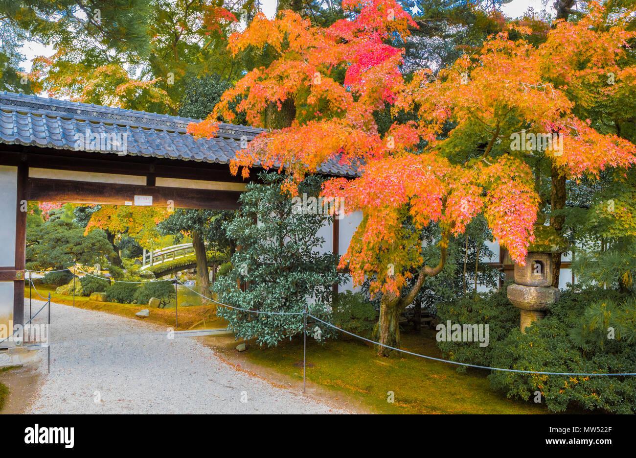 Japan ,  Kyoto City, Imperial Palace Gardens Stock Photo