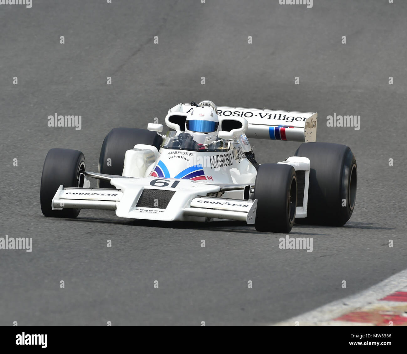 Jason Wright, Shadow DN8, FIA Masters Historic Formula One Championship, Masters Historic Festival, Brands Hatch, May 2018. Brands Hatch, classic cars - Stock Image