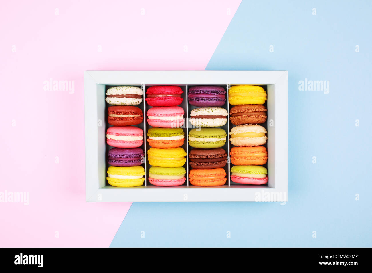 Box of macarons - Stock Image